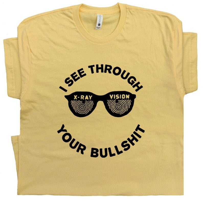 Funny X-Ray Glasses T Shirt Cool Witty Inappropriate Tee image 0