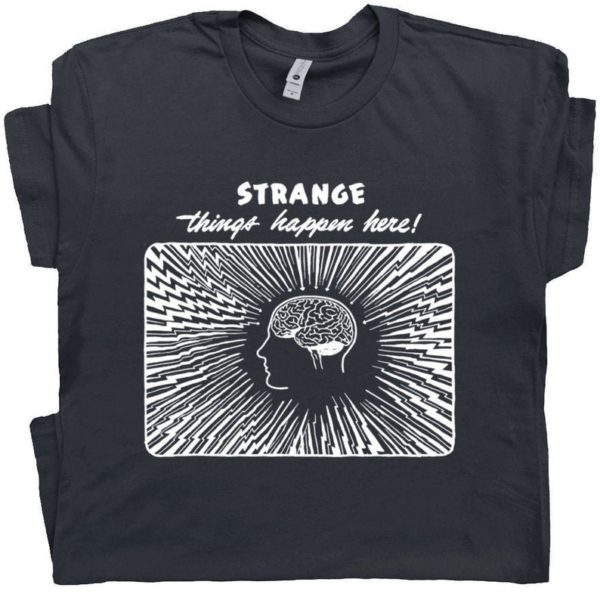 Weird T Shirt Cool Vintage Graphic Tee Shirt With Strange image 0