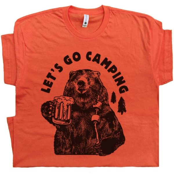Let's Go Camping T Shirt Funny Camping Shirts with Cool image 0