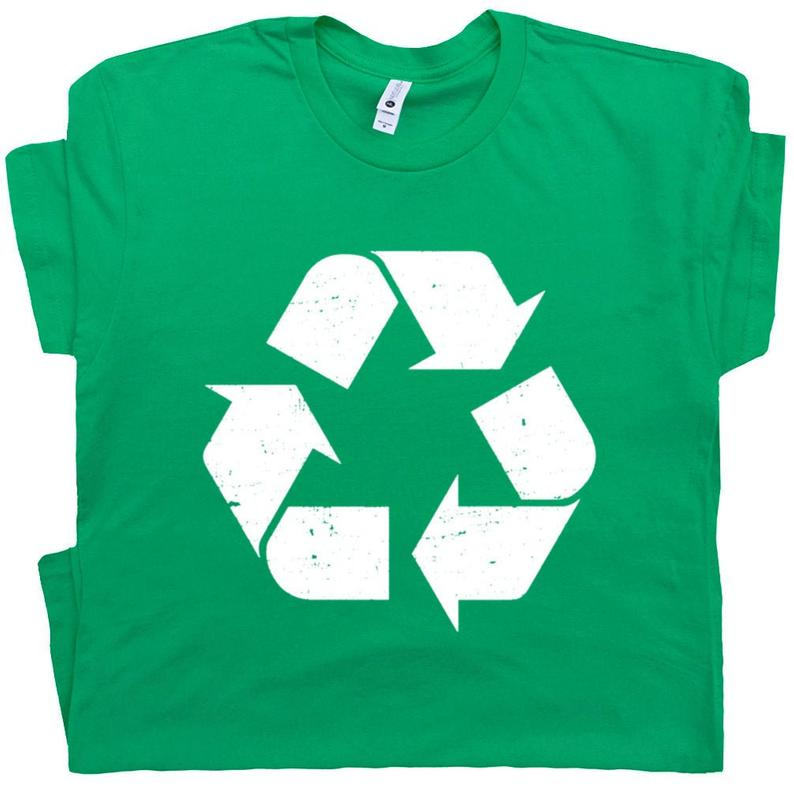 Recycle T Shirt Recycling Logo T Shirt Vintage Recycle Symbol image 0