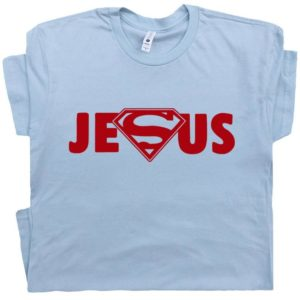 Superman Jesus T Shirt Cool Christian Graphic Shirt Designs image 0