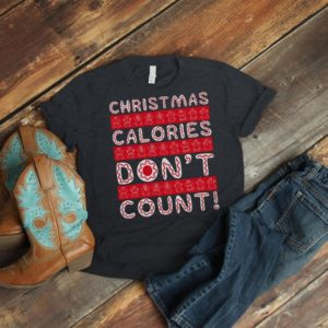 Christmas Calories Dont Count Shirt Ugly Sweater Gingerbread image 0