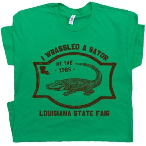 Alligator Wrestling T Shirt Alligator T Shirt Crocodile Shirt image 0