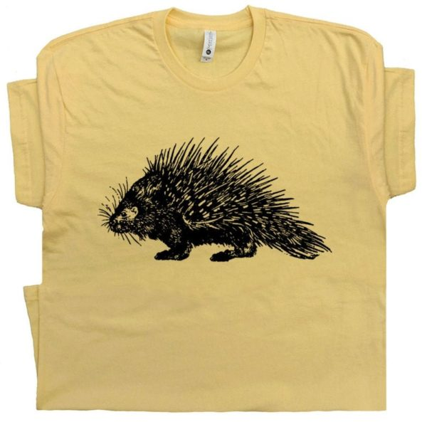 Porcupine T Shirt Funny Animal Shirt Cool Porcupine Shirt Cute image 0