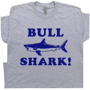 Bull Shark T Shirt Funny Jaws Graphic Shirts With Sarcastic image 0