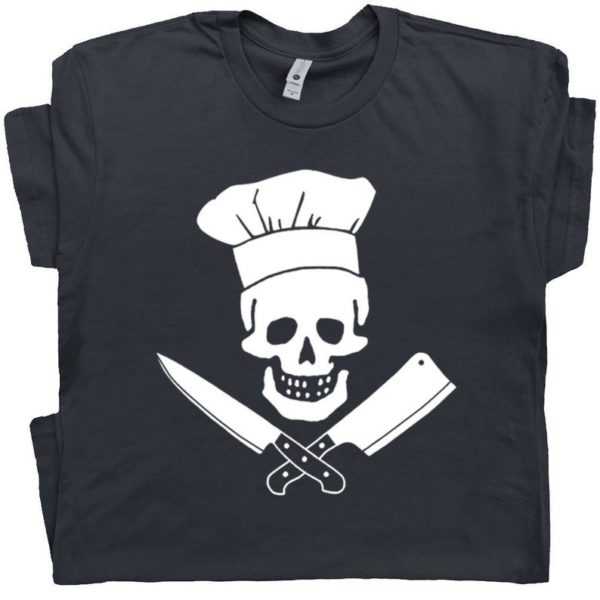 Head Chef T Shirt Chef Skull Shirt Rose Apothecary T Shirt For image 0