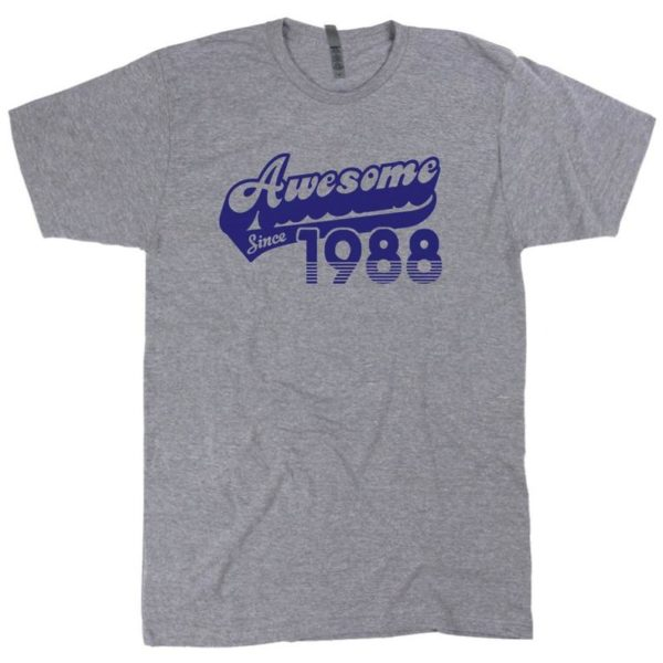 32nd Birthday Shirt Awesome Since 1988 T Shirt Funny 32nd image 0