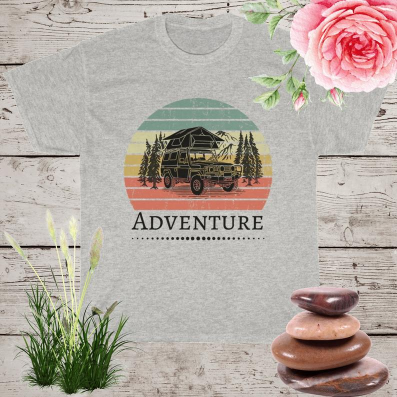 Adventure Tee © nature shirt hiking shirt camping shirt Ash
