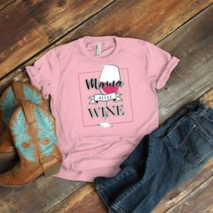 Mama Needs Wine Shirt Vintage Winosaur Tee Funny New Mom image 0