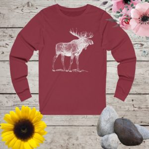 Moose  shirt moose tshirt cute moose shirt women moose image 0