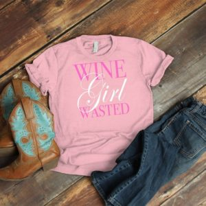 Wine Girl Wasted Shirt Vintage Happy Hour Brunch Tee Wine image 0