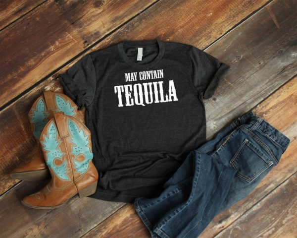 May Contain Tequila Shirt Cute Mexican Fiesta Tshirt image 0