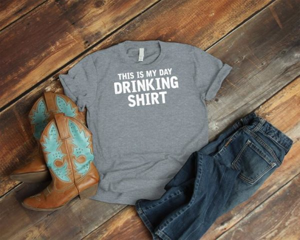 This Is My Drinking Shirt Shirt, Vintage Tshirt, Funny Wine Tee, Alcohol Beer Lover Gift, Girls Night Out Party Weekend, Day Drunk Tshirt