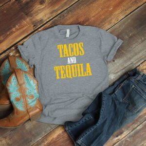 Tacos And Tequila Shirt Vintage Taco Tuesday Mexican Fiesta image 0