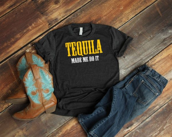 Tequila Made Me Do It Shirt Vintage Mexico Drinking Tshirt image 0