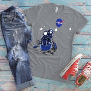 Astronauts Canoeing Shirt NASA Patch Milky Way Gifts NASA image 0