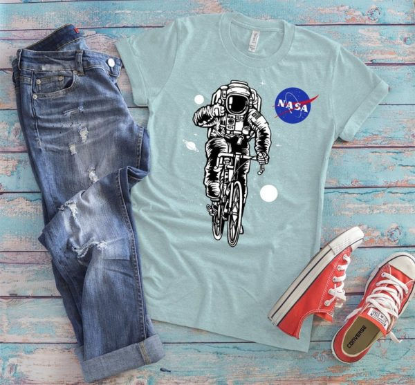 Cycling Astronaut Biker Shirt Funny Bike Rider Gift Outer image 0