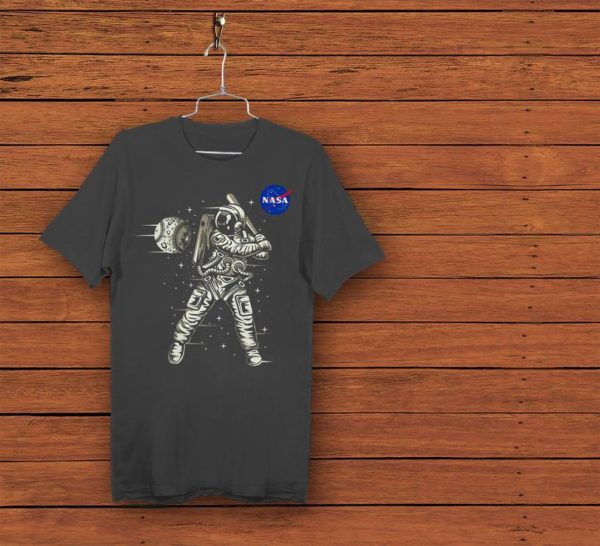 Astronaut Baseball Player Shirt Outer Space Lover Gift Game image 0