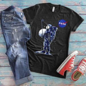 Astronaut Selfie Stick Outer Space NASA Shirt Spaceman image 0