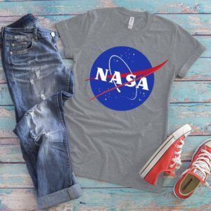 NASA Patch Logo Shirt Space Tees Explore Outer Space image 0