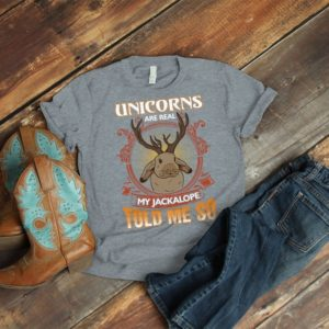 Unicorns Are Real Shirt Vintage Tshirt Jackalope image 0
