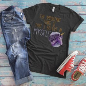 Unicorn Shirt Believe in Yourself Magical Unicorn Outfit image 0