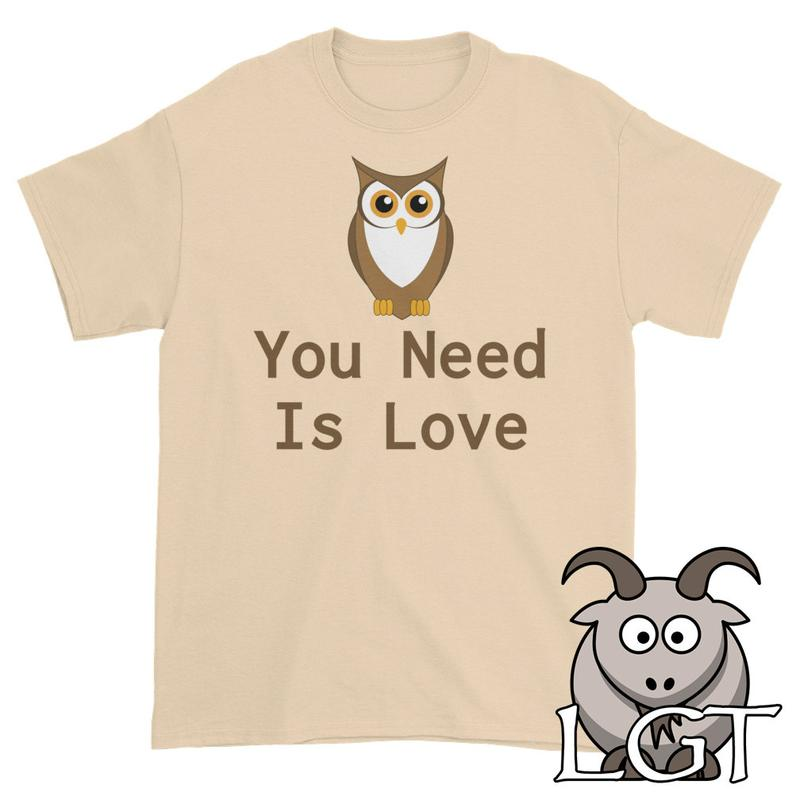All You Need is Love Shirt Funny T Shirts Owl You Need is image 0