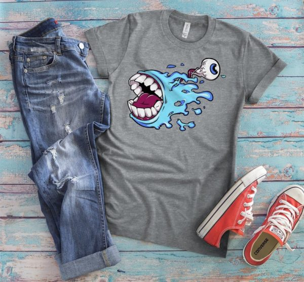 Screaming Monster Shirt Eyeball T-Shirt Pastel Goth Gifts image 0