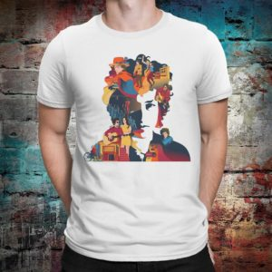 Bob Dylan Original Art T-Shirt Men's Women's Cotton White
