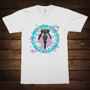 Metroid Samus Aran T-Shirt Men's Women's Cotton Tee White