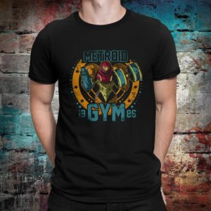 Metroid Gym 1986 T-Shirt Men's Women's Cotton Tee image 0