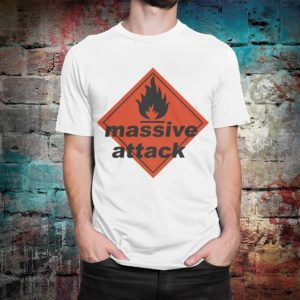 Massive Attack Graphic T-Shirt Men's Women's Cotton White