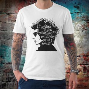 Bob Dylan Angelina T-Shirt Men's Women's Cotton Tee White