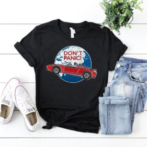Don't Panic T-Shirt / SpaceX Shirt / Space Car T-Shirt / image 0