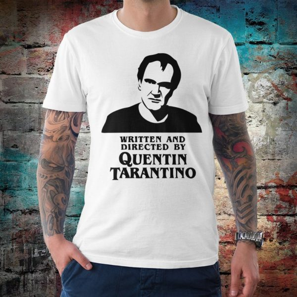 Written and Directed by Quentin Tarantino T-Shirt Men's White