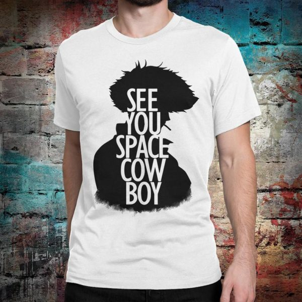 Cowboy Bebop See You Space Cowboy T-Shirt Spike Spiegel Tee White