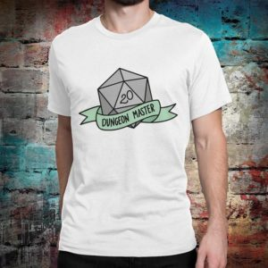 Dungeon Master Graphic T-Shirt Dungeons & Dragons Tee White