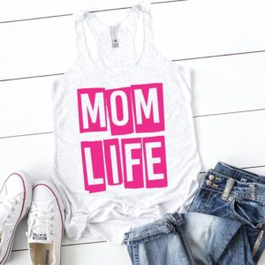 Mom Life Tank Top / Gift For Mom Shirt / Funny Mom Shirts Mom image 0