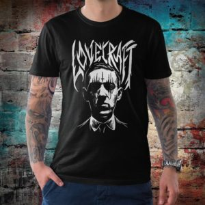 Howard Lovecraft Black Metal T-Shirt Men's Women's image 0