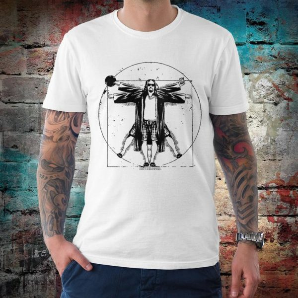 The Big Lebowski Vitruvian Man T-Shirt Men's Women's White