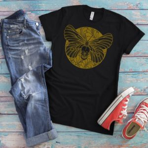 Deaths Head Moth Shirt Sugar Skull T-Shirt Skeleton Gifts image 0
