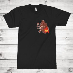 Studio Ghibli Calcifer Fire Heart T-Shirt Howl's Moving image 0
