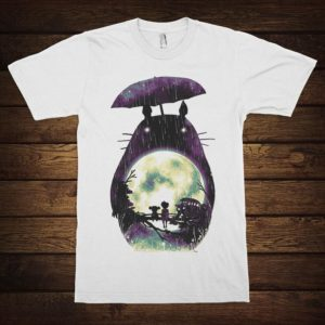My Neighbor Totoro Art T-Shirt Studio Ghibli Movie Tee White