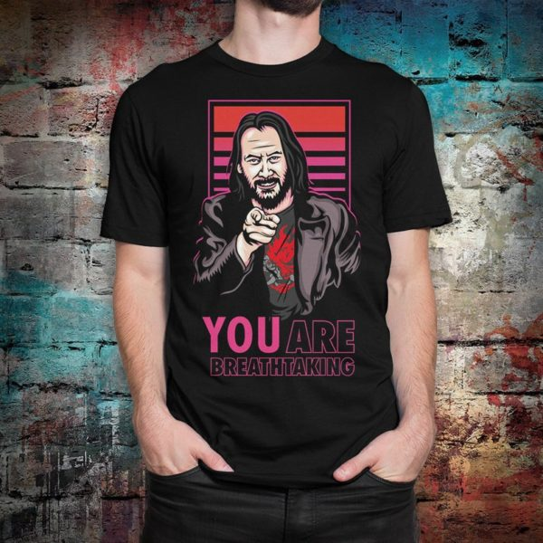 Keanu Reeves You Are Breathtaking T-Shirt Men's image 0