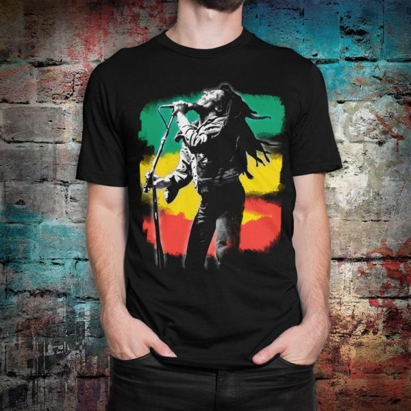 Bob Marley Graphic T-Shirt Men's Women's Cotton Tee image 0