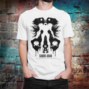 Metroid Samus Aran Graphic T-Shirt Men's Women's White