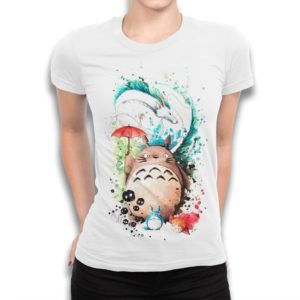 Studio Ghibli Movies Art T-Shirt Totoro Mononoke Spirited image 0