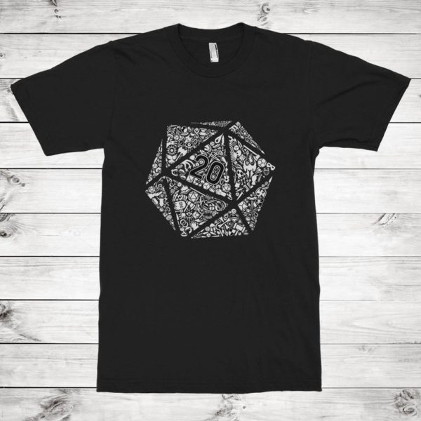 Dungeons and Dragons Dice T-Shirt Men's Women's image 0
