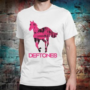 Deftones Band Graphic T-Shirt Premium Cotton Tee Men's White