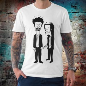 Beavis and Butt-Head in Pulp Fiction Style T-Shirt Men's White